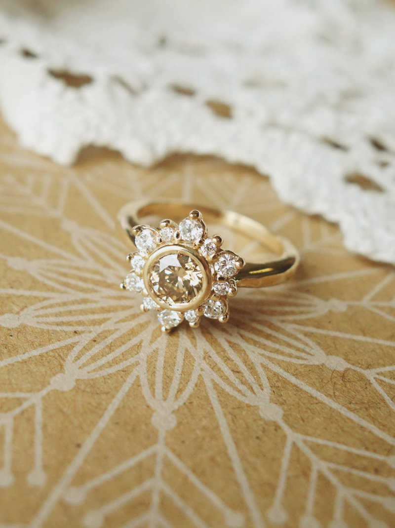 14 vintageinspired flower engagement rings for feminine