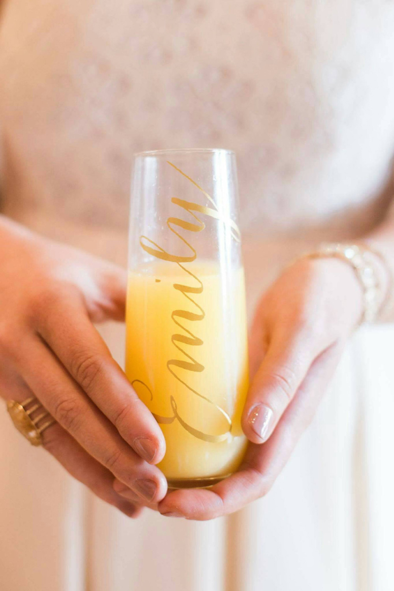 06-Personalized Champagne Flutes