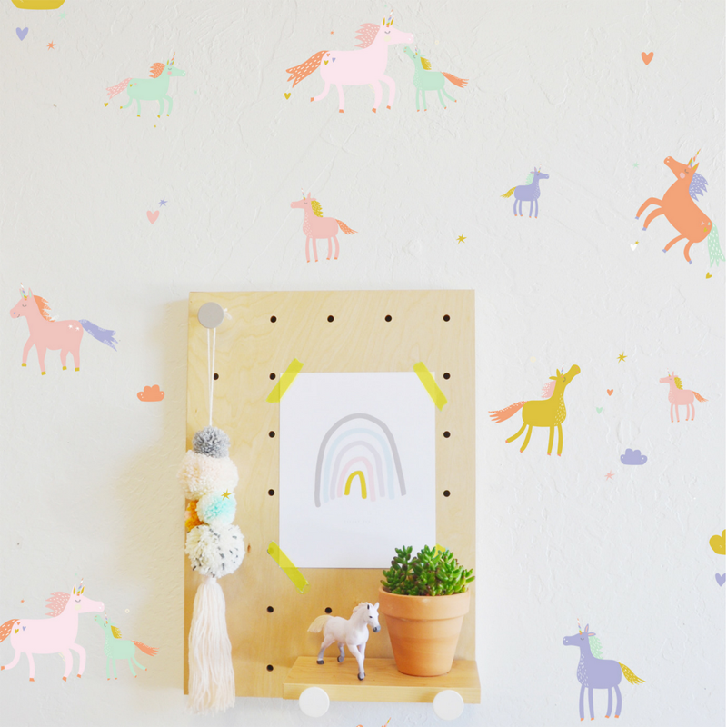 06-Tiny Unicorns Wall Decals
