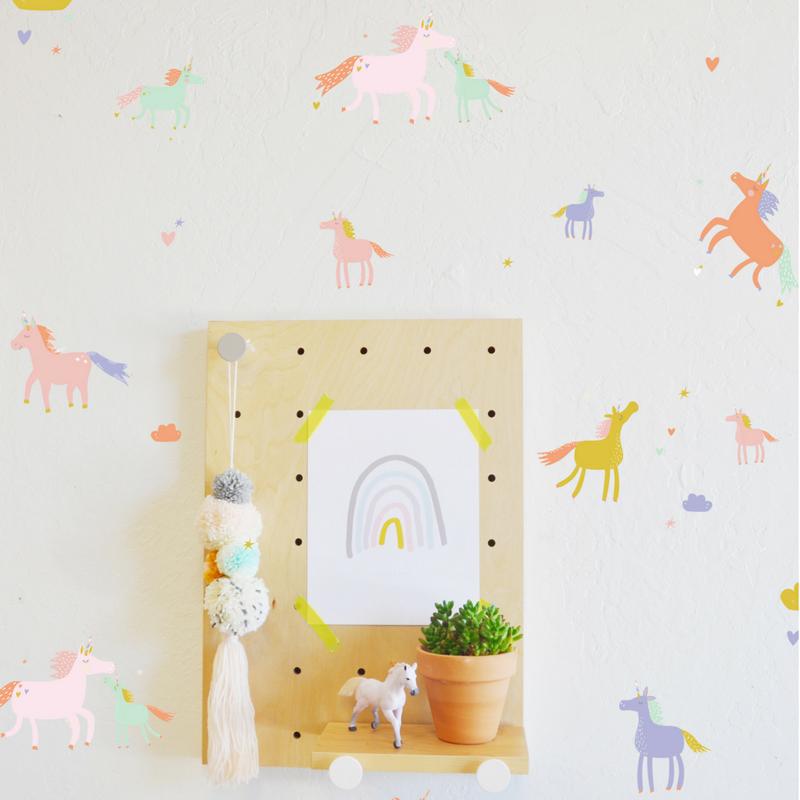 06 Tiny Unicorns Wall Decals