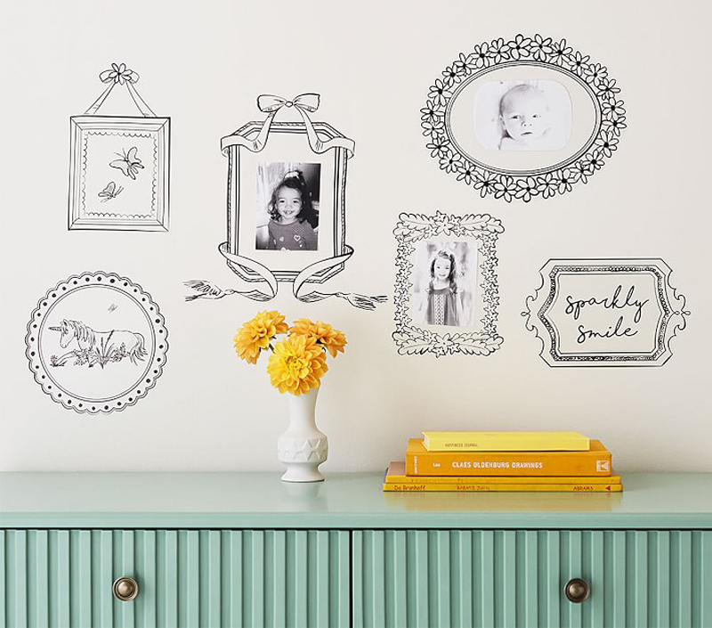 07-Black Open Frame Wall Decals