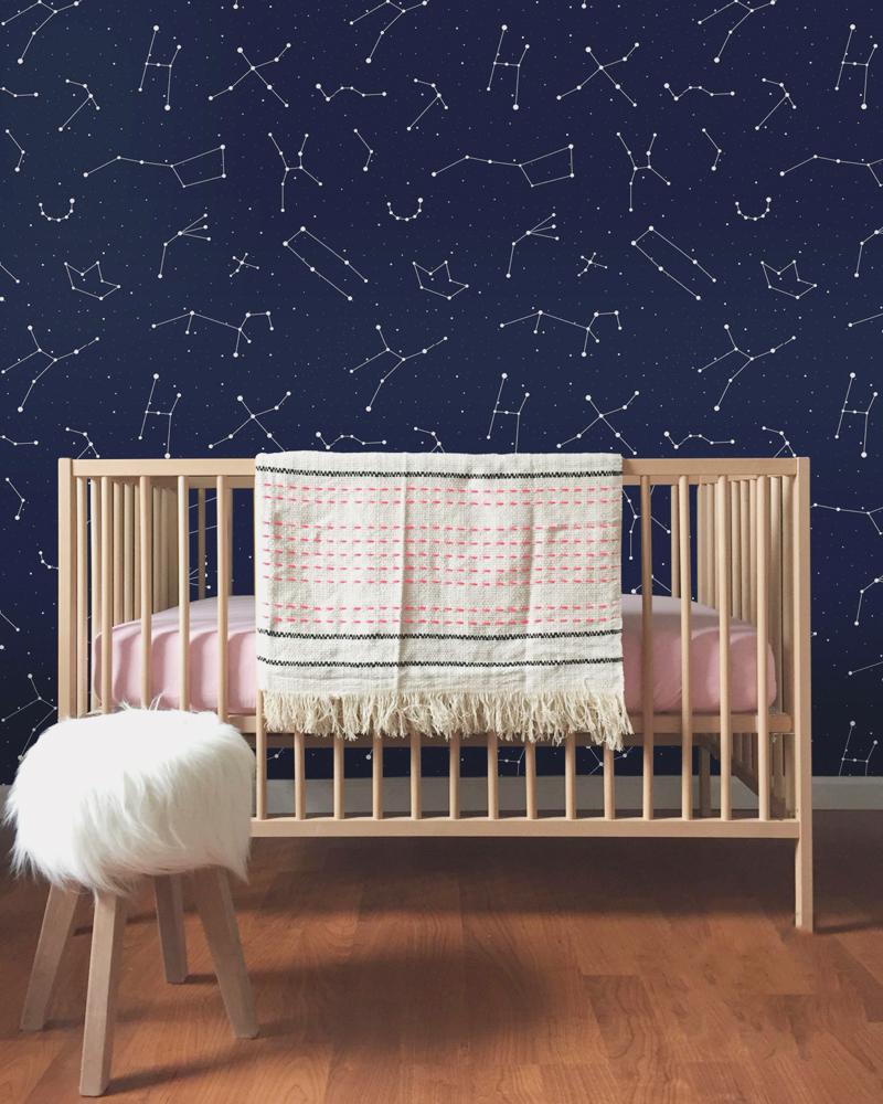 08-Constellations Nursery Wallpaper