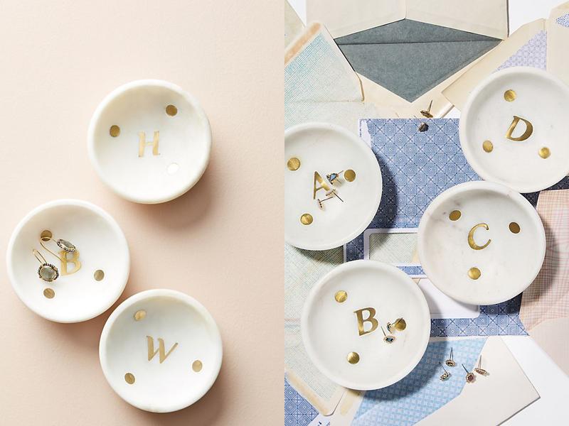 08-Marble Monogram Trinket Dish