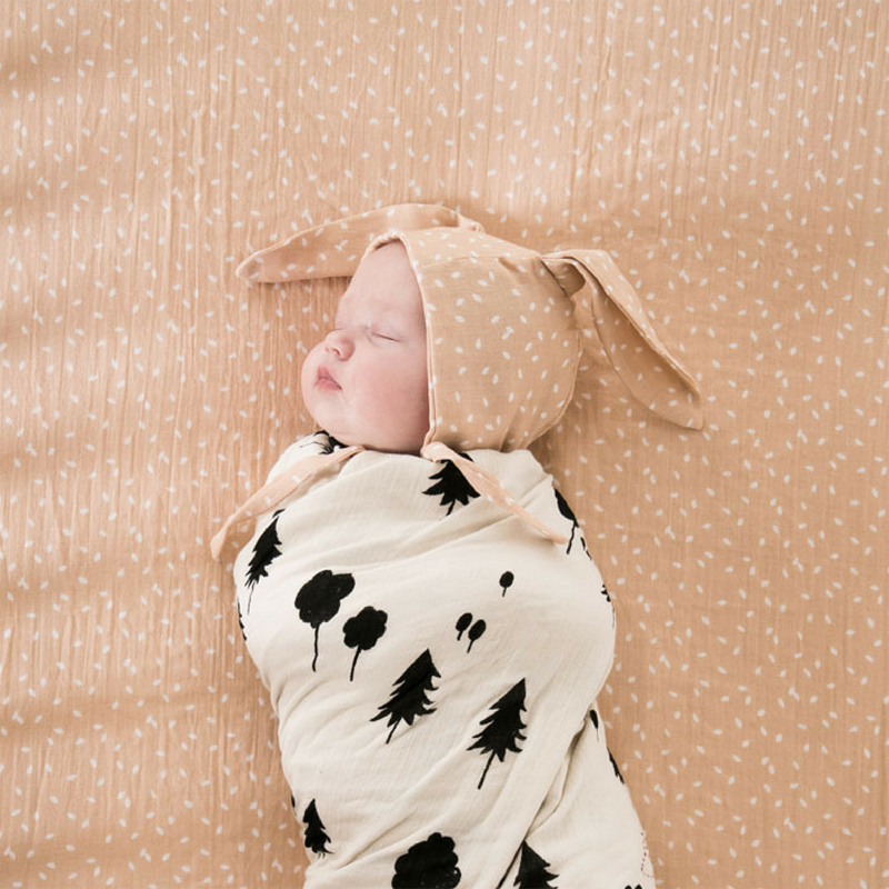 10-Forest Print Swaddle