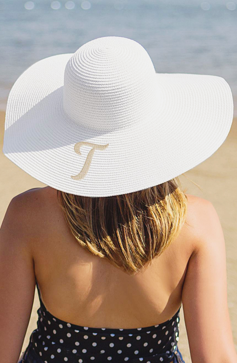 10-Monogram Straw Sun Hat