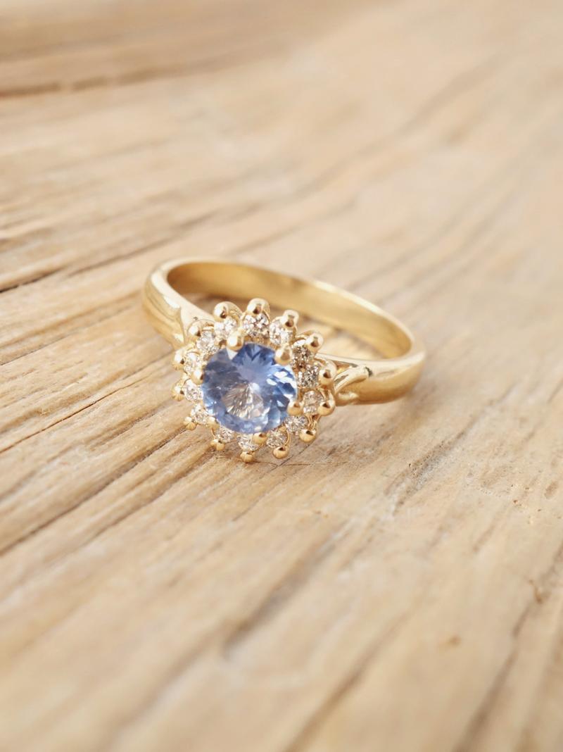 11-Fleur Forget-Me-Knots Ring