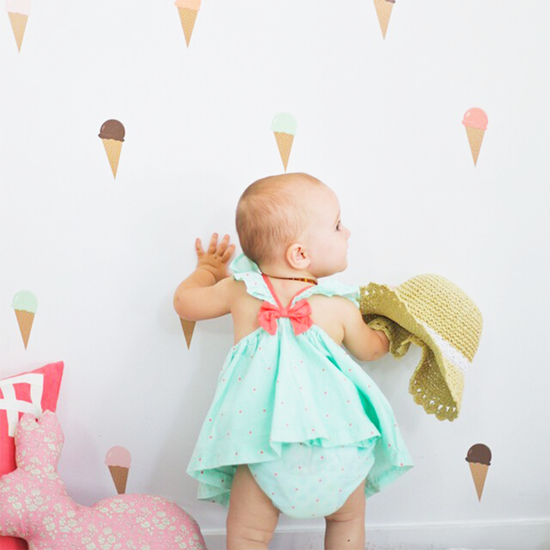 12-Ice Cream Cone Wall Decals