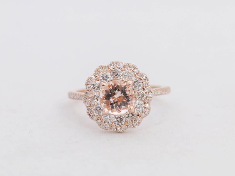 14-Rose Gold Halo Ring