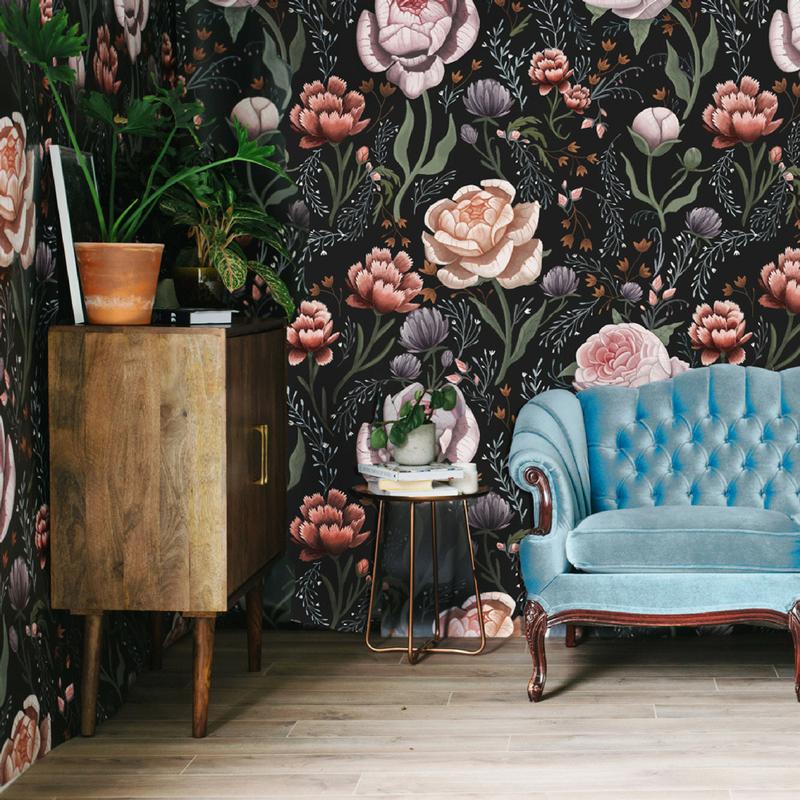 15-Rose Le Soir Mural