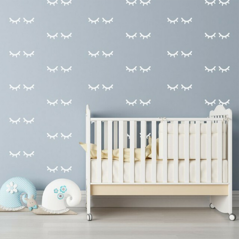 19-Sleepy Eyes Wall Decals