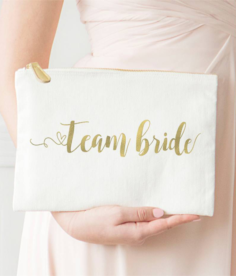 19-Team Bride Canvas Pouch