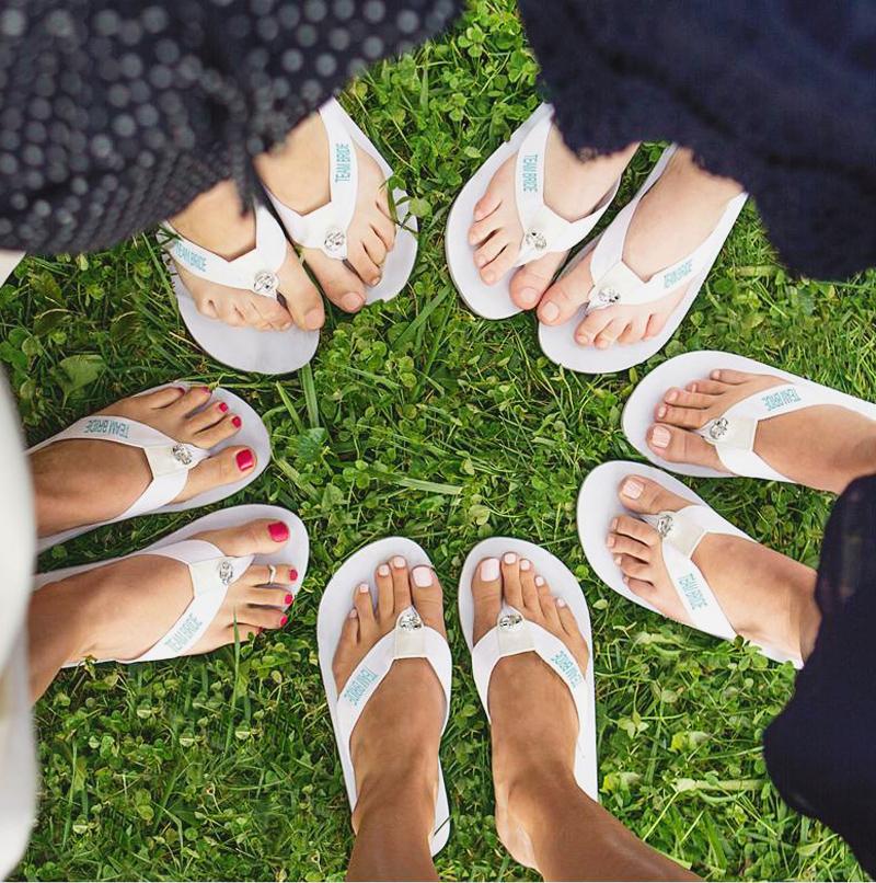 23-Team Bride Flip Flops