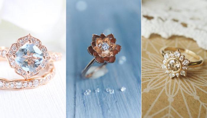 14 Vintage-Inspired Flower Engagement Rings For Feminine Bridal Looks!