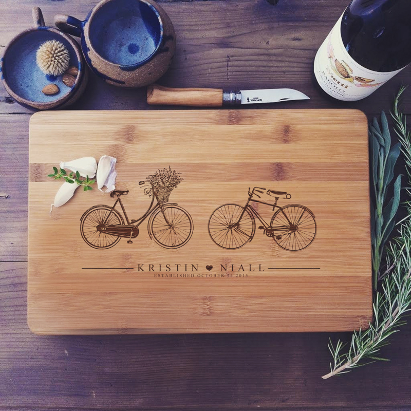 01-Personalized Bike Cutting Board