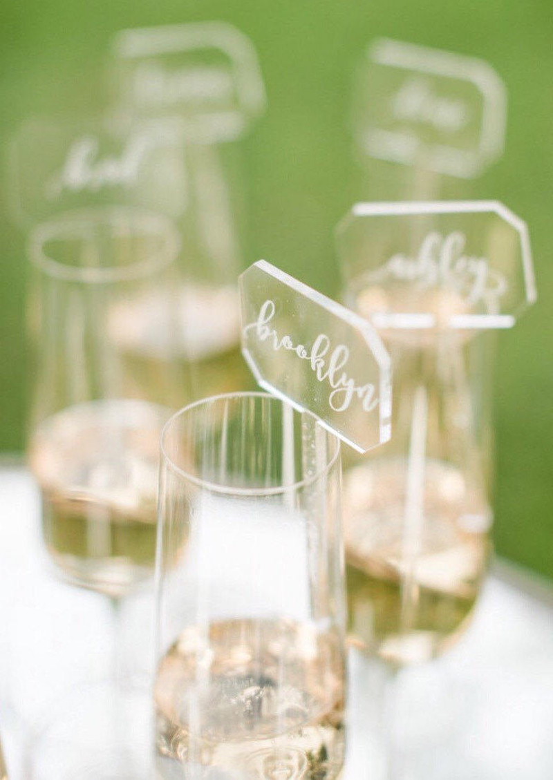 03-Acrylic Drink Stirrer Place Card