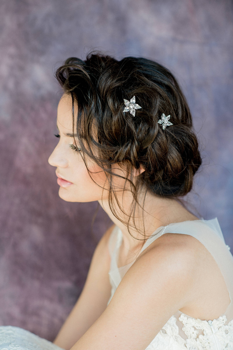 03-Gold Rhinestone Starburst Bridal Hair Pins