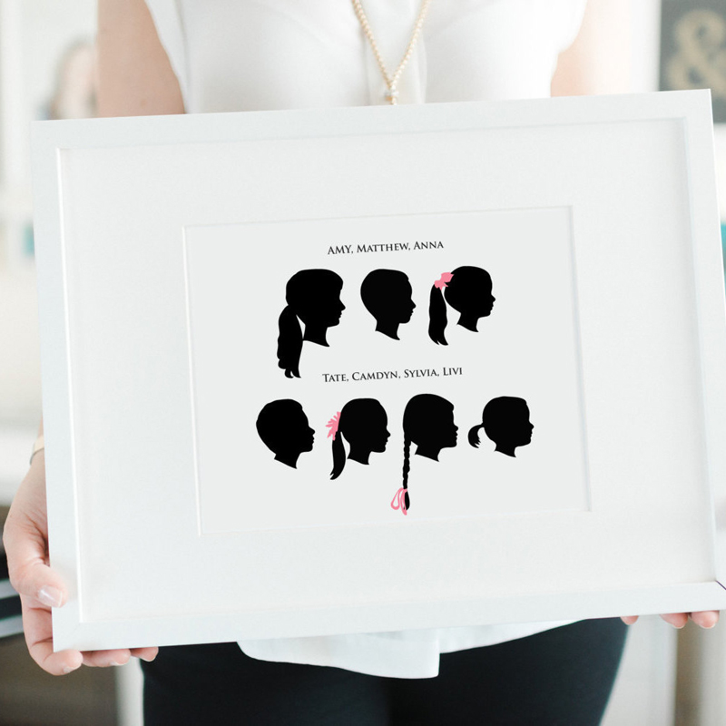 05-Custom Silhouette Family Portrait