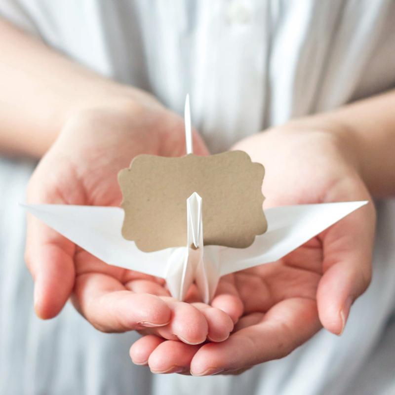 06-Origami Paper Crane Place Card