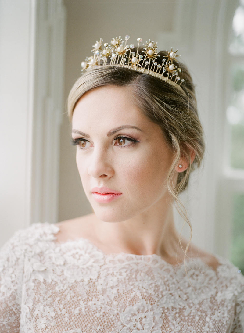 08-Gold Star Bridal Crown