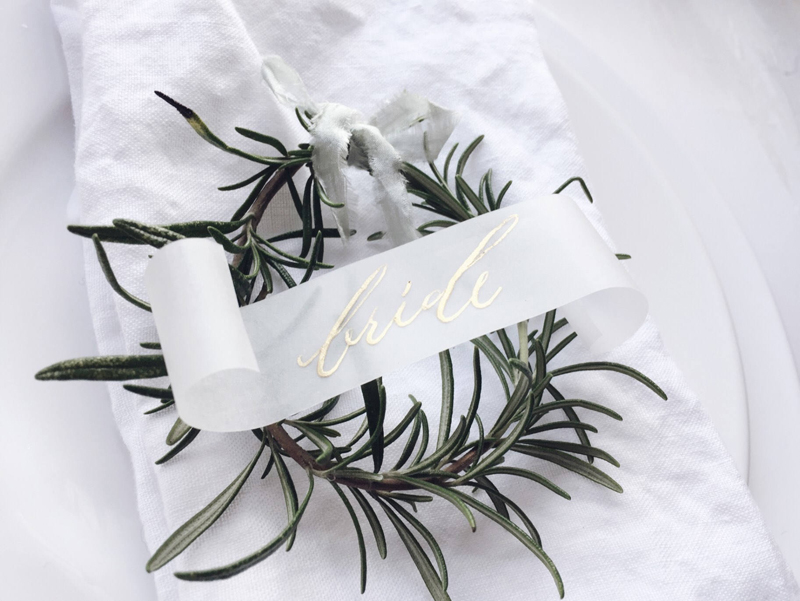 11-Vellum Transparent Place Cards