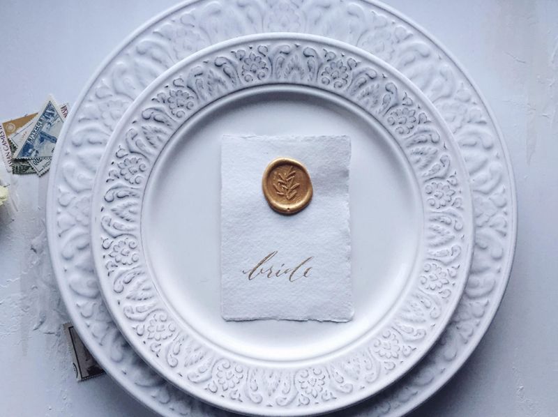 14-Handwritten Wax Seal Place Cards