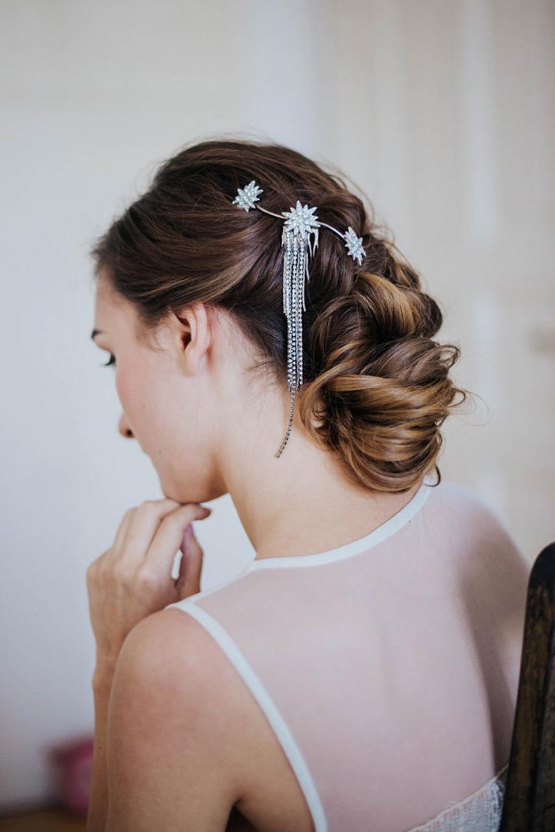 18-Starry Bridal Comb