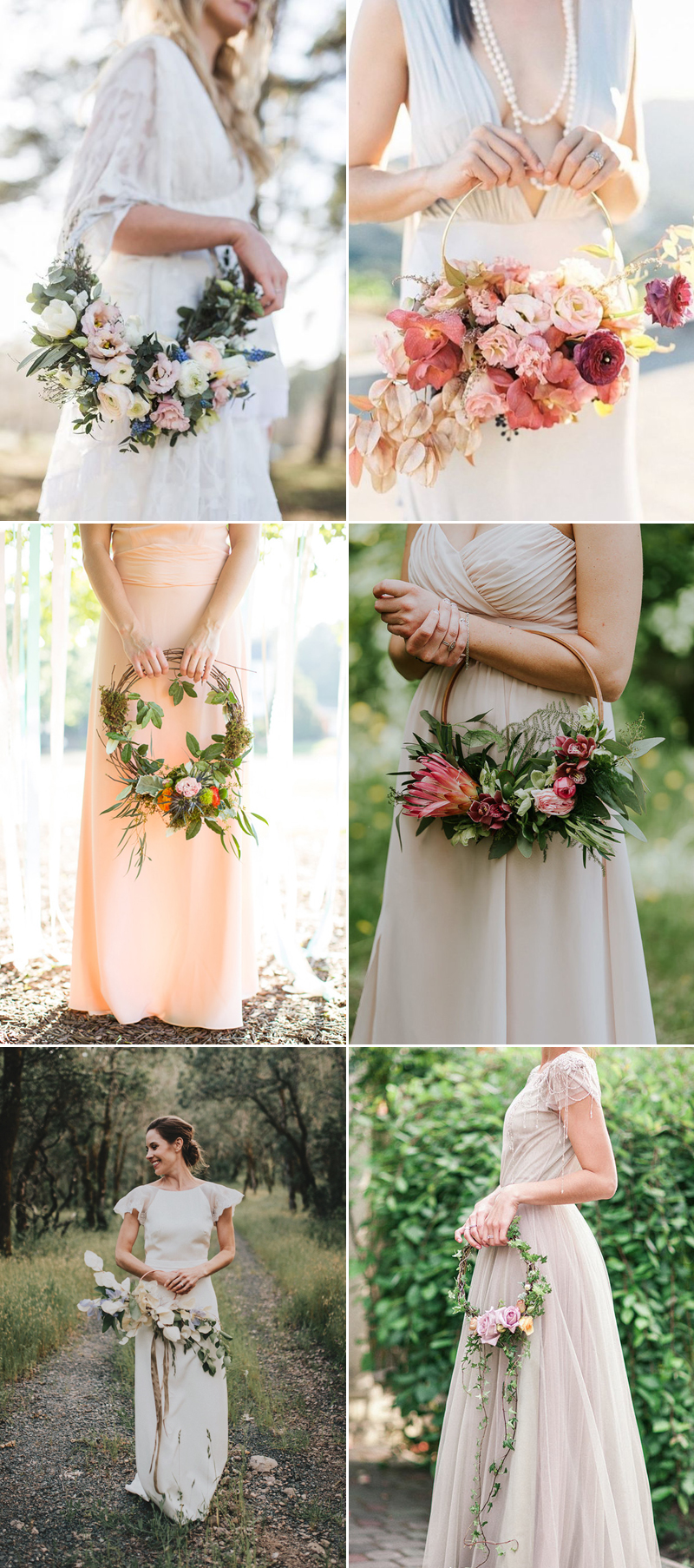 Hoop Bouquets A Modern Alternative And Wedding Trend You Dont Want