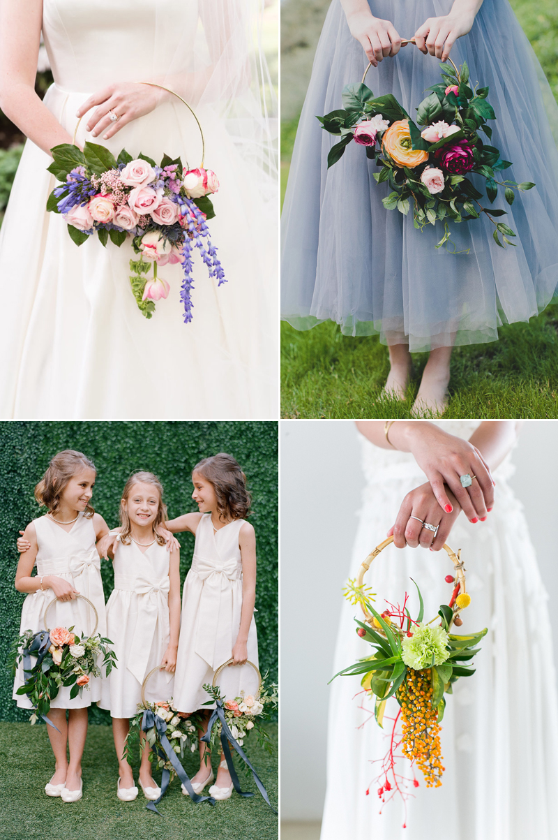 Hoop Bouquets: A Modern Alternative and Wedding Trend You Don\'t Want ...