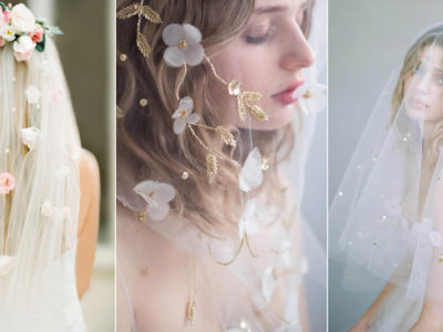 17 Garden-Inspired Floral Veils For Romantic Brides!