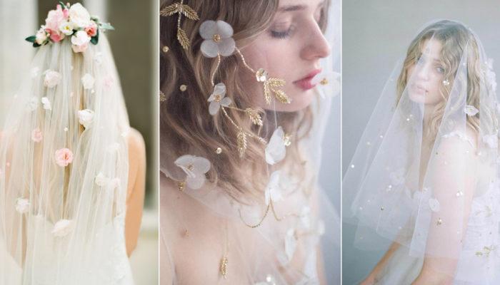 17 Garden-Inspired Floral Veils For Romantic Brides!