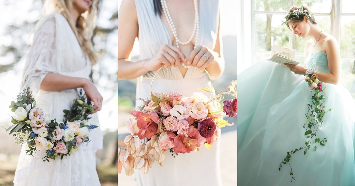 Hoop Bouquets A Modern Alternative And Wedding Trend You