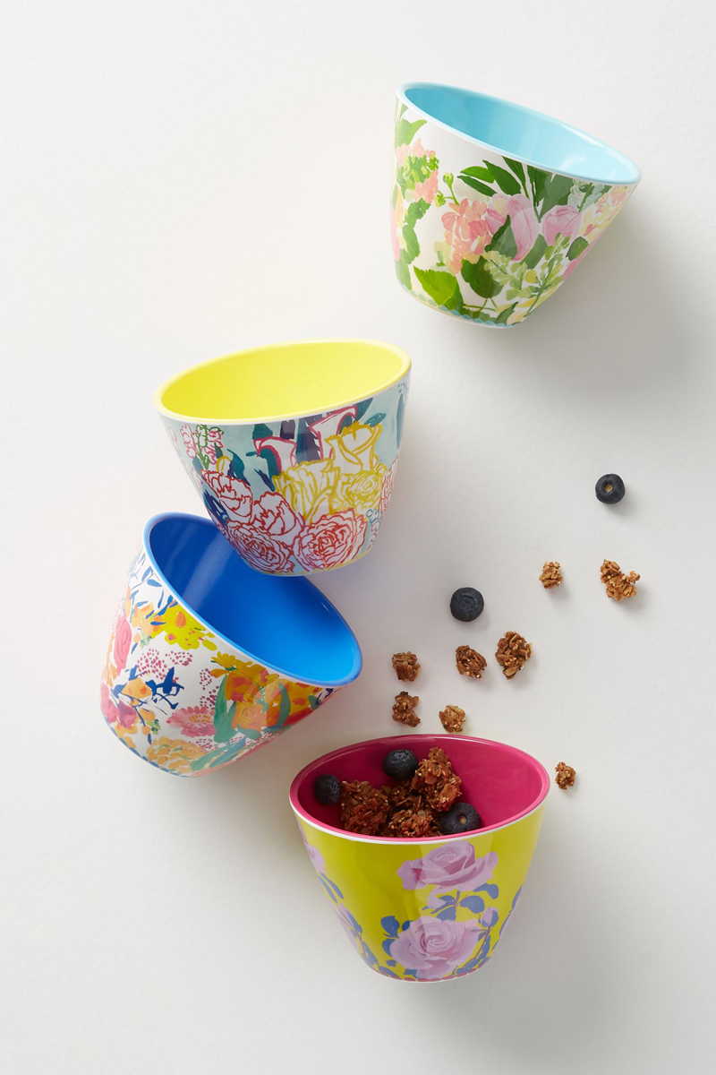 05-Paint + Petals Melamine Nut Bowl