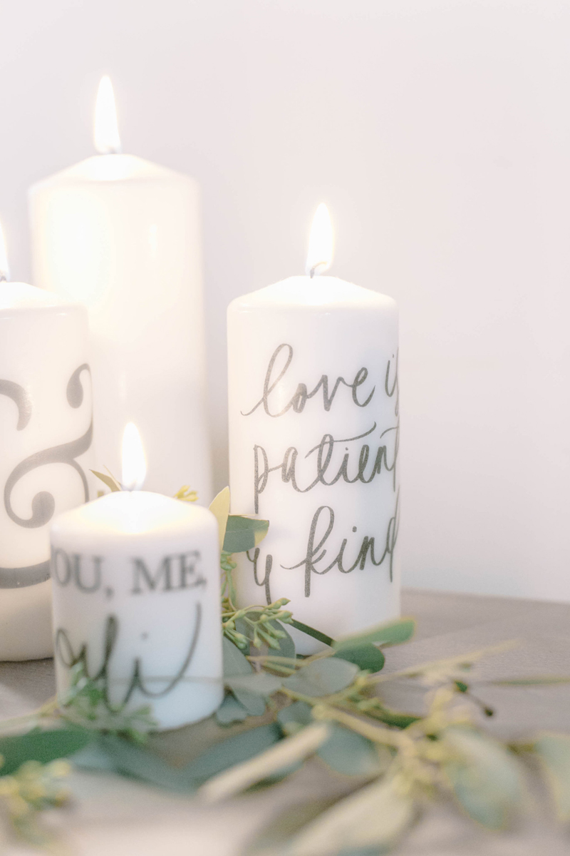 11-All About Love Candle Favors