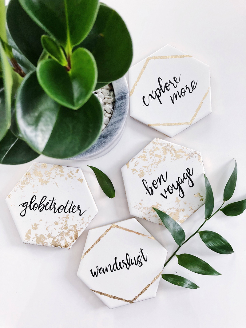 12-Porcelain Coaster Wedding Favors