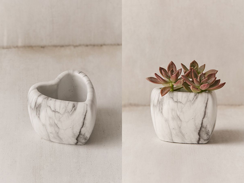 20-Mini Marbled Heart Planter