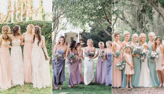 6 Beautiful and Easy Color Combinations To Pull Off The Mismatched Bridesmaid Dress Trend!