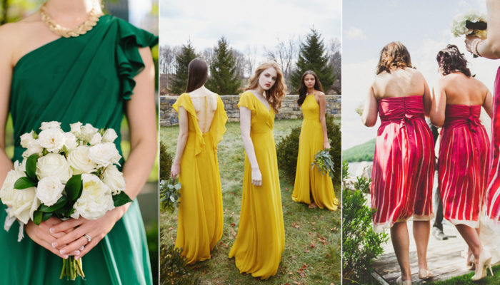 Pop of Color! 18 Bright and Fun Hues For Bridesmaid Dresses!