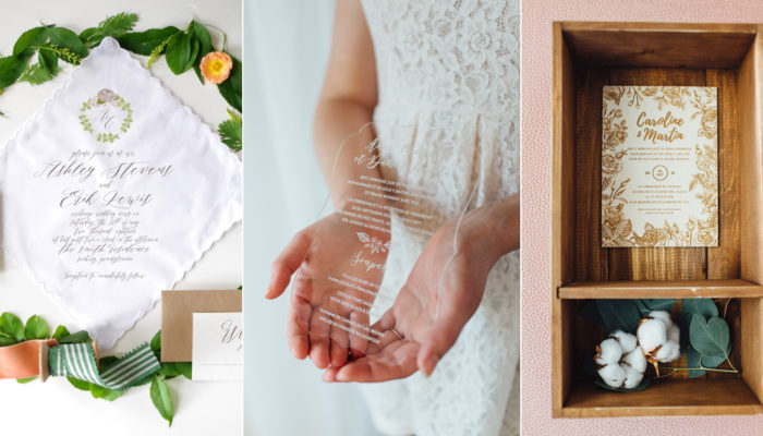 13 Creative and Unique Wedding Invitations Made With Unconventional Materials!
