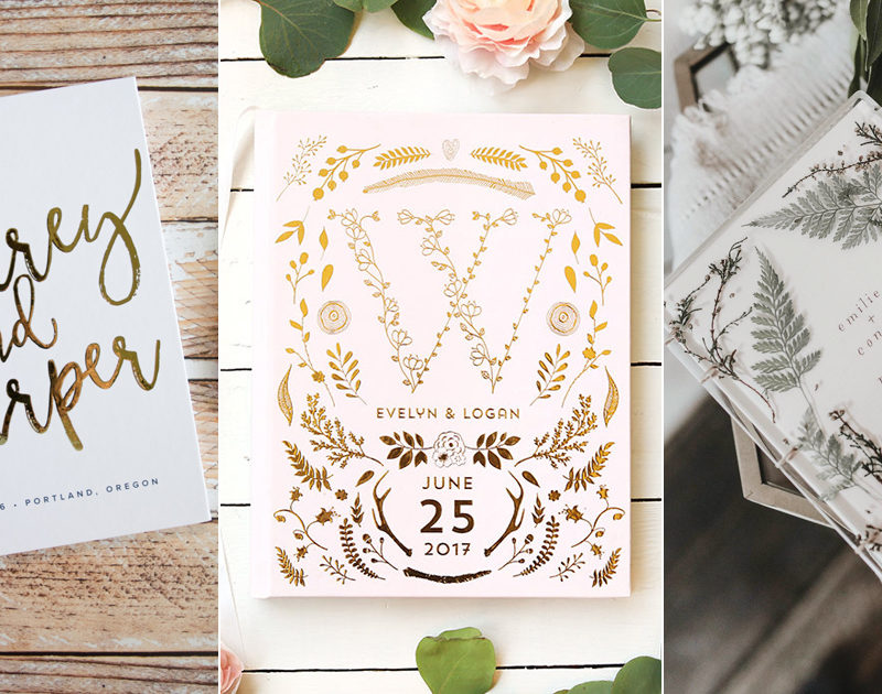 30 Beautifully Crafted Wedding Guest Books That Show Style and Personality!