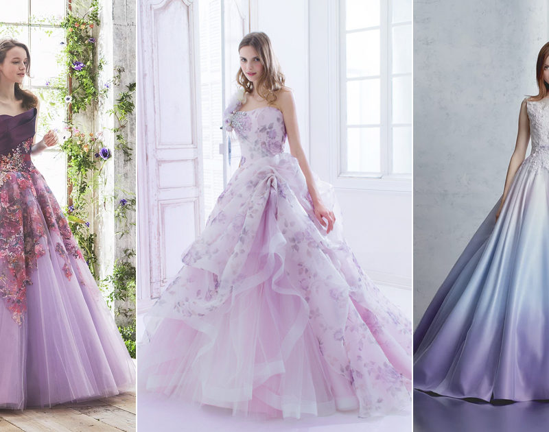 30 Beautiful Purple Wedding Gowns For Modern Brides