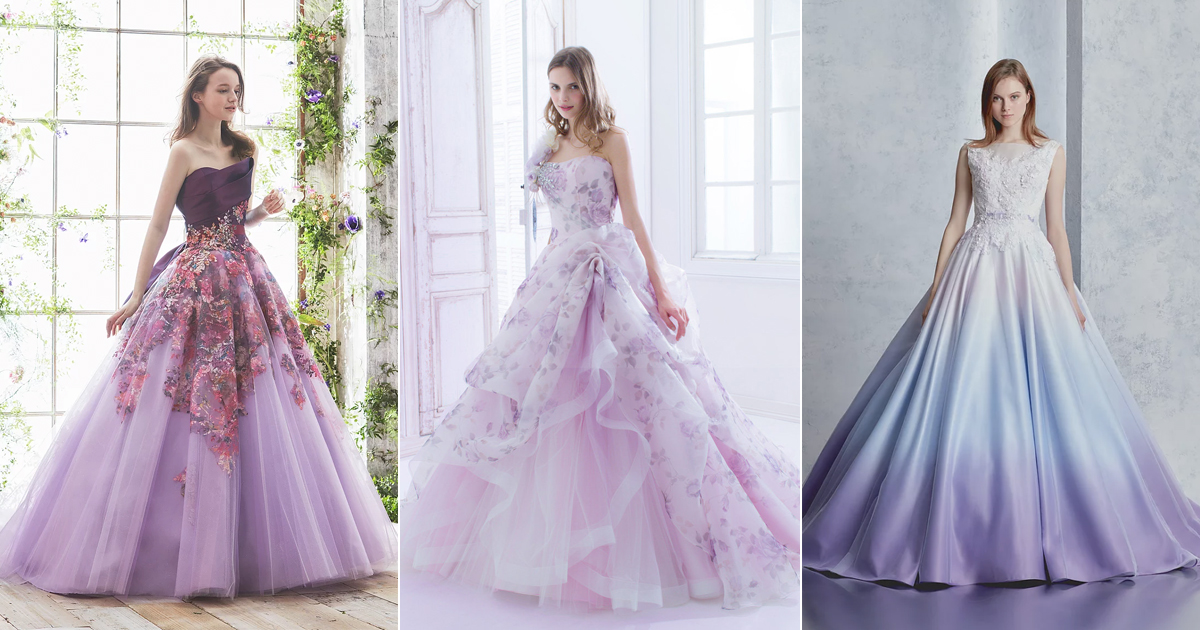 30 Beautiful Purple Wedding Gowns For Modern Romantic