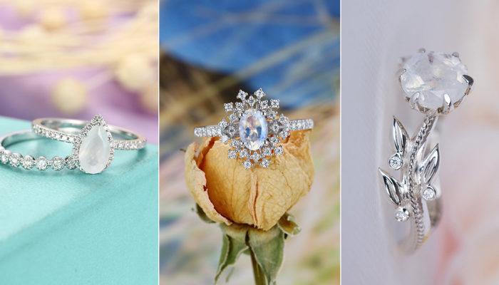 20 Moonstone Engagement Rings Modern Brides Will Love