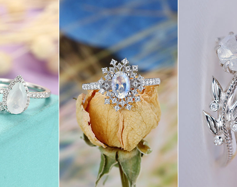 20 Moonstone Engagement Rings Modern Brides Will Love