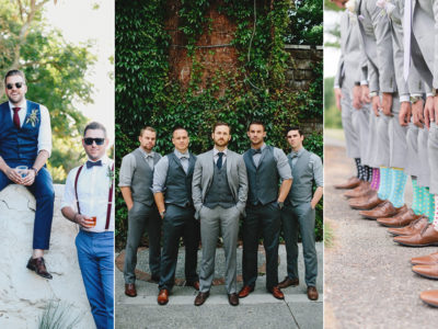 New Rules For the Guys! 5 Ways to Master The Mismatched Groomsmen Trend!