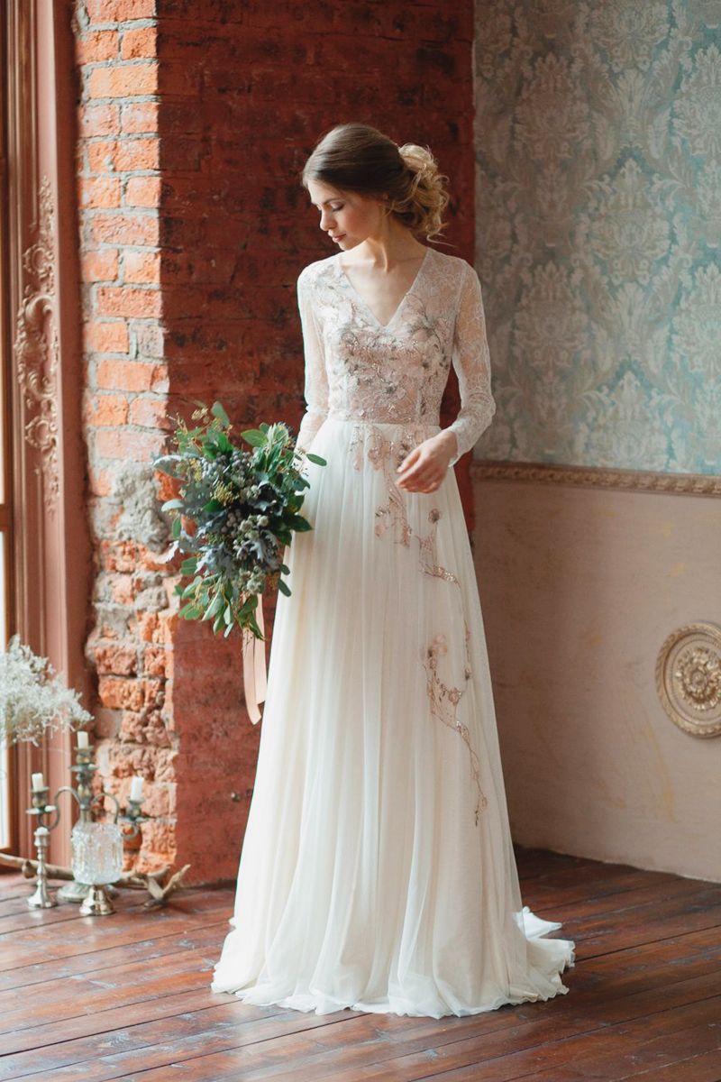 Embroidered Wedding Dress.25 Affordable Embroidered Wedding Dresses You Can Buy Online