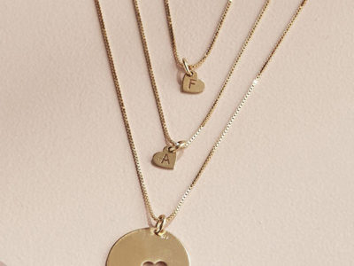 Personalized Piece Of My Heart Necklace Set