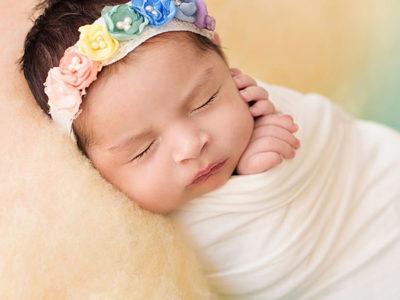 Rainee Rainbow Baby Newborn Tieback + Wrap Set