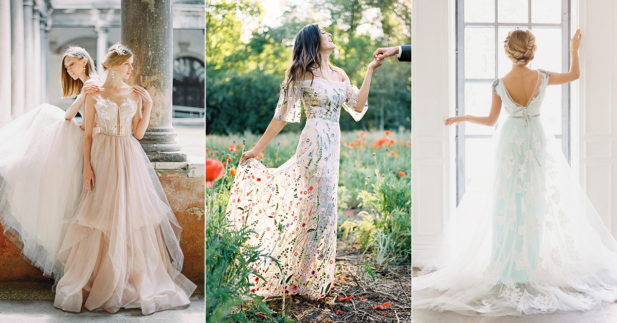 25 Affordable Embroidered Wedding Dresses You Can Buy Online