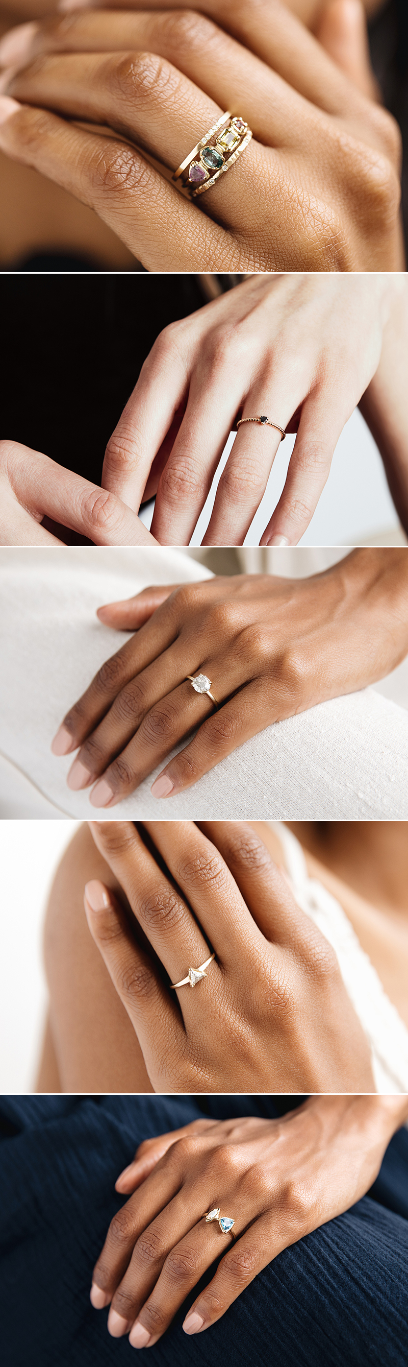 Alternative Hand-crafted Non-Traditional Engagement Rings