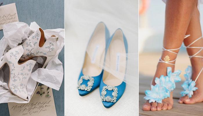 15 Beautiful Something Blue Wedding Shoes!